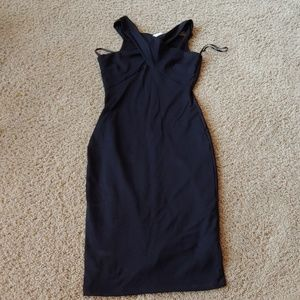 NWT Bebe black midi bodycon dress, medium